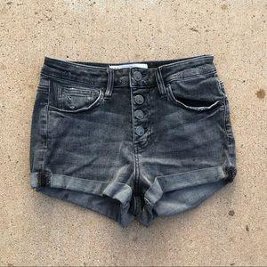 Grey High Rise Jean Shorts // Size 1